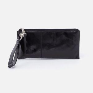HOBO Vida Wristlet- Black Leather